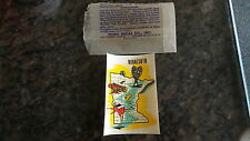 Vintage Travel Sticker Decal MINNESOTA,Map,Snowshoes,Fish,Skater, Luggage,Camper