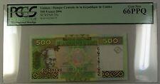 2006 Central Bank Republic of Guinea 500 Francs Note SCWPM# 39a PCGS GEM 66 PPQ