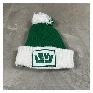 80s VTG LEVY COMPANY CHICAGO Construction Architects POM Knit Ski Beanie Hat