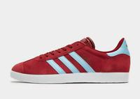 Mens Adidas Gazelles Trainers Claret & Blue Shoes West Ham / Aston Villa Colours