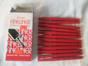 Pilot Fineliners Marker Pen Red SW-PP 1 Dozen NEW No. 11015