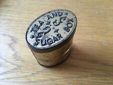"Vintage Rare ""Tea And Sugar Box"" Tin."