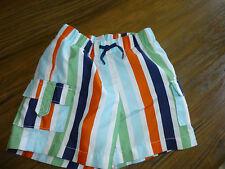 BABY GAP Baby Boy SWIM TRUNKS! Super Nice! STRIPE SZ: 12-18 mo Orange Blue