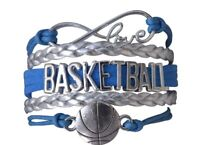 Basketball Bracelet - Basketball Jewelry, Gift For Basketball Players- 12 Colors