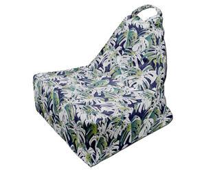 Bean Bag Chair, Tropical Leaves Print, Unique Design 9, Full Print, Made in EU