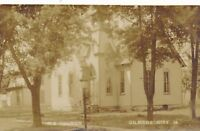 GILMORE CITY IA – M. E. Church Real Photo Postcard rppc
