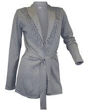 Feine Damen-Strickjacken aus Baumwollmischung ohne Verschluss