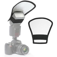 Photography Two-Sided Reversible Flash Light Diffuser Reflector Silver / White