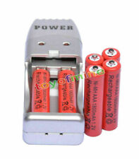 6X AAA 3A 1800mah1.2V NiMH rechargeable battery Red+USB Charger