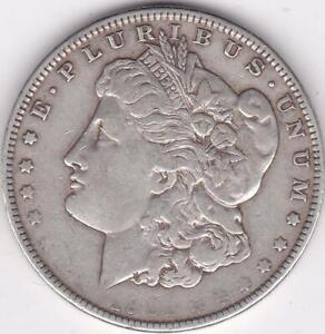 1901 O Morgan Silver Dollar $1 Strike Thru Error Coin and Cud