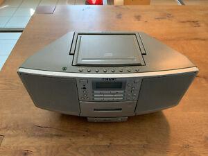 Sony ZS-D5 CD Stereo Radio Cassette Recorder Ghettoblaster Mega Bass