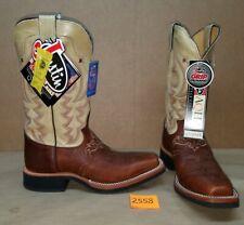 Womens Size 8.5 B JUSTIN Brown Tan L5045 Cowboy Boots Square Toe