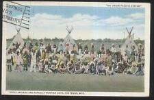 Postcard CHEYENNE Wyoming/WY  Sioux Indian Gathering view 1930's