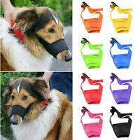 bL Dog Safety Muzzle Adjustable Biting Barking Chewing Small Medium Large Mesh