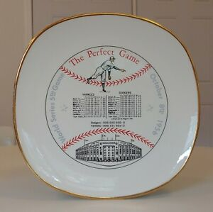 VINTAGE DON LARSEN PERFECT GAME NY YANKEES WORLD SERIES 5th GAME PLATE OLD 1956