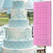 Silicone Fondant Lace Mould Embosser Mat Sugarcraft Cake Decorating Mold Tool