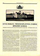 Trockenplatten Perutz München XXL Reklame 1927 Fotografie Film Kamera Werbung