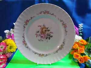 """STUNNING FLORAL PLATE """" ALICE """" RIDGWAY STAFFORDSHIRE - SCALLOPED EDGE # M 140"""