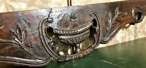 18th Scroll tureen pierced carving pediment Antique french architectural salvage