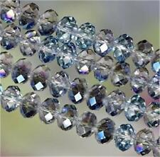 6x8mm blue Swarovski Crystal Loose Bead 350PCS##ZY323