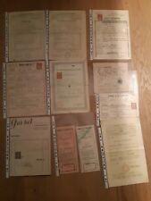 Alte Unterlagen Geburtsurkunde Gesellenbrief