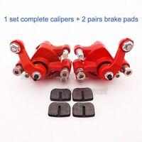 Left + Right Disk Brake Calipers For Chinese Mini Pocket Dirt Bike Goped Go Kart