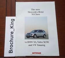 New M-Class by Mercedes-Benz 2005 Autocar magazine Reprint ML320 CDI (auto) test