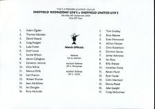 B28 Sheffield Wednesday v Sheffield United 06/09/03 FA Premier Academy League Un