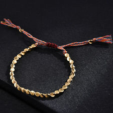 Handmade Lucky Rope Bracelet Braided Copper Beads Tibetan Buddhist Bangle
