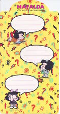 MAFALDA by Quino 80s Artena italy  - sticker tags - etichette adesive yellow