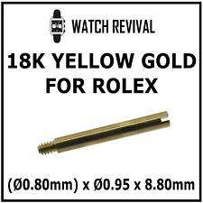18K SOLID GOLD SWISS MADE BRACELET SCREW LINK FOR ROLEX (Ø0.80mm) x Ø0.95 x 8.80