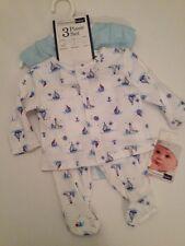 Vitamins Baby Boy Bodysuit Cardigan Pants Set Size Newborn Nautical Blue Layette