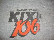 Vintage KIXK 106 Dallas Radio Station Rayon Tri Blend gray pre kiss fm T Shirt M