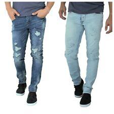 `ETZO Men's biker jeans, Slim Skinny fit premium Ripped Distressed Denim (J7623)