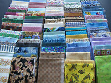 100 FAT QUARTERS, NEW MANY OOP 25 YARDS NO DUPLICATES QUILT SHOP QUALITY