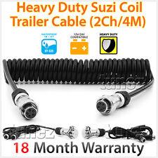 2-Channel 4 Meter Suzi Coil Trailer Cable 4PIN Connectors Truck Trailer Caravan