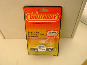 1983 MATCHBOX SUPERFAST MB10 PLYMOUTH GRAN FURY 012 METRO POLICE CAR NEW ON CARD