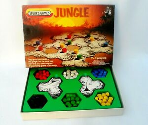 Spears JUNGLE Rare Vintage Strategy Game - complete - 1983 - Retro  2-6 players