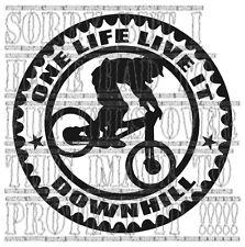 Bicicleta de Montaña Pegatina one life live it MTB descenso coche furgoneta Gráfico de vinilo cotización
