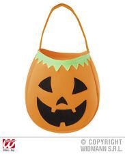 Halloween Betteltasche oder Handtasche als Kürbis