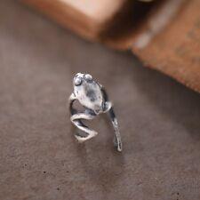 High Quality 925 Sterling Silver Frog Cuff Ear Clip Women Men Punk Jewelry