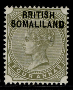 SOMALILAND PROTECTORATE QV SG6, 4a slate-green, LH MINT.