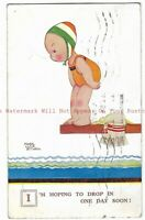 Artist Mabel Lucie Attwell 'I'm Hoping to Drop in One Day'Vintage Postcard 23.12