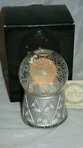 Waterford 100th Anniversary Musical Crystal TIMES SQUARE CITYSCAPE SNOWGLOBE