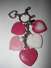 COACH Multi Hearts Valentine Charm Keychain Keyring Key Fob