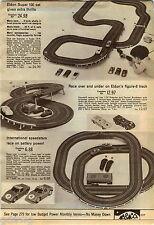 1969 ADVERTISEMENT Raceway Eldon Super 100 8 Track Aurora HO Tabletop Deluxe