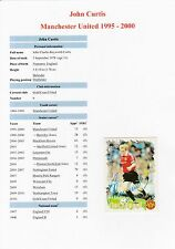 "JOHN CURTIS MANCHESTER UNITED 1995-2000 ORIGINAL HAND SIGNED ""FUTERA"" CARD"