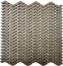 Mosaik Fischgrät Vetro cream matt Fliesenspiegel Küche Art: 140-HB33C   10Matten