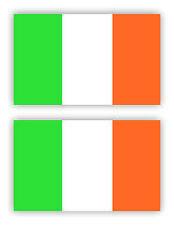 SelfAdh.IRISH FLAG  stickers/decals (SET OF 2) WAT/PROOF.Racecar/Mini/Boats