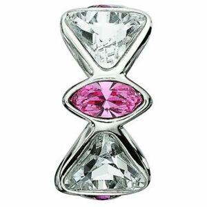 Genuine Chamilia Bow Tie Charm with Pink Swarovski Crystal